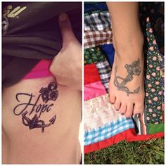 Mine and Chelsea Duran's sister anchor tattoo :) | |t a t t o o s ...