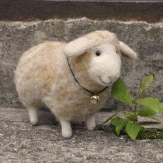 Handmade felted needlefelted  wool lamb sheep by BinneBear on Etsy, $59.00
