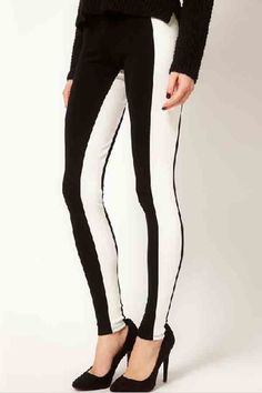 Fashion+Color+Contrast+Leggings+#Fashion+#Leggings+#maykool