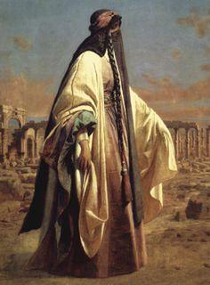 Lady Jane Digby al-Mizrab. Palmyra, Syria