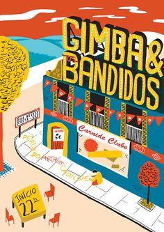 Gimba & Os Bandidos Gig Poster by Sam Brewster