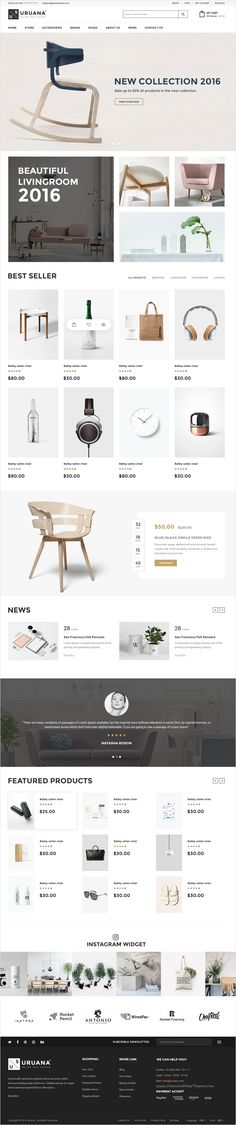 Uruana is uniquly design #PSD template for stunning #decor #store #website with 3+ multipurpose homepage layouts and 21 organized PSD pages download now➩ https://themeforest.net/item/uruana-multi-concept-ecommerce-psd-template/17446677?ref=Datasata
