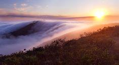 Fog rolling in, Marine Headlands, California