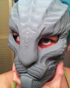 Repti-cat mask first cast by missmonster on deviantART