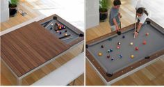 dining room table, pool table  2 in 1