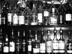 whiskey bottles in a pub in oban