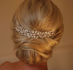 Emily Hair vine Wedding Hairvine Bridal by IvyandPearlBridal