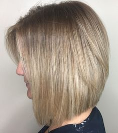 Stacked Bob and Painted On Highlights