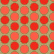 mod_circle_coral fabric by holli_zollinger for sale on Spoonflower - custom fabric, wallpaper and wall decals Textile Patterns, Print Patterns, Textiles, Baby Blue Nursery, Coral Fabric, Nursery Fabric, Pattern Wallpaper, Fabric Wallpaper, Retro Pattern