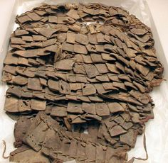 Leather lamellar Cuisse, 323 BC - 256 AD Yale-French Excavations at Dura-Europos 1928 to 1937: Period:Graeco-Roman or Parthian, Culture:Syrian, Dura-Europos.