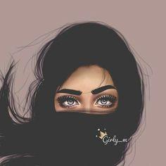 Girl Cartoon, Cartoon Art, Girly M Instagram, Sarra Art, Cute Girl Drawing, Drawing Art, Girly Drawings, Cute Girl Wallpaper, Digital Art Girl