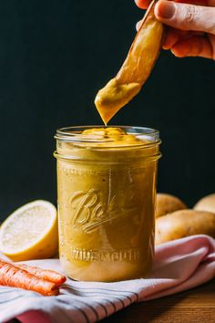 Hempy Potato Carrot Cheese Sauce #McDougall #nondairy #cheese #recipe | Veeg.co