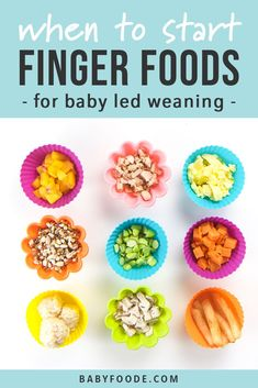The Ultimate Guide to Finger Foods for Baby Led Weaning - Baby Foode Picky Toddler Meals, Toddler Lunches, Toddler Dinners, Baby First Finger Foods, Toddler Finger Foods, Baby Led Weaning Breakfast, Baby Breakfast, Baby Weaning, Homemade Baby Foods