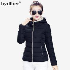 HYDIBER 2017 New Women's Hooded Slim Fit Cotton Padded Coat/Jacket