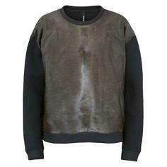 NEIL BARRETT $1395 oversized neoprene calves hair pony skin fur sweatshirt L NEW #NeilBarrett #Sweatshirt
