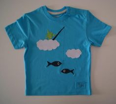 camiseta modelo nubes  algodón  fiselina  tergal 100% handmade
