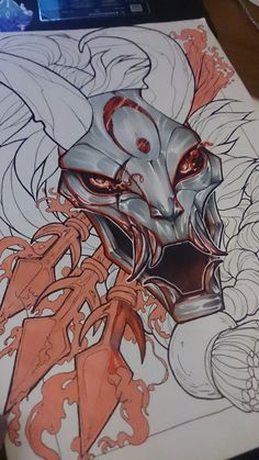 Kalista Blood Moon WIP by HauRin.deviantart.com on @DeviantArt