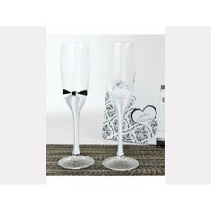 Set pahare miri papion si floricica Flute, Champagne, Tableware, Dinnerware, Tablewares, Flutes, Dishes, Tin Whistle, Place Settings