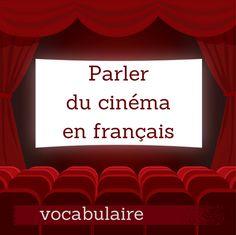 Découvrez en vidéo le vocabulaire utile pour parler du cinéma en français : les genres de films, les professions, aller voir un film...