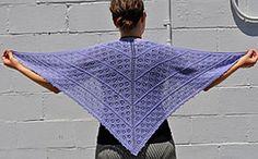 Ravelry: Panda Silk Sweet Alyssum Shawl pattern by Lisa Dykstra & Susan Druding