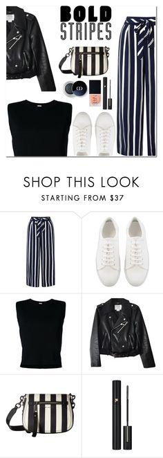 """""""Be bold"""" by lynksmichelle on Polyvore featuring Monsoon, Rito, Kate Spade, Marc Jacobs, Lancôme, NARS Cosmetics, Summer, stripedpants, women and contestentry"""