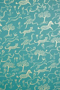 Grassland Fables Wallpaper - anthropologie.com
