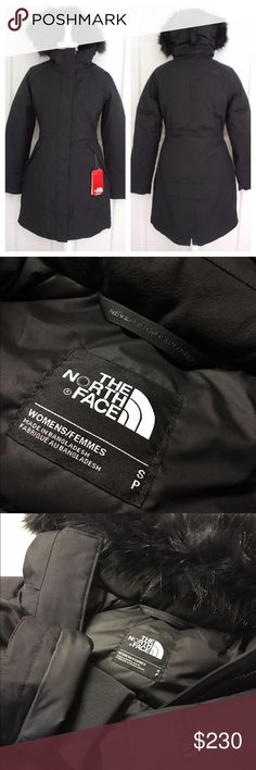 North Face Arctic Down Parka 550 Goose Down Fill S ❤️$185 + Free Shipping on Merc. Title is: FREE SHIP⭐️North Face Arctic Down Parka.                 Retails for $300  Material: Goose Down 550 Fill Condition: NWT included  *Insulated winter coat combines a waterproof, breathable exterior with thermal 550-fill down insulation *Removable hood with zip-off, faux-fur trim *Covered elastic at waist side panel *Zips at reverse-entry hand pockets *Dropped split hem with functional snaps…