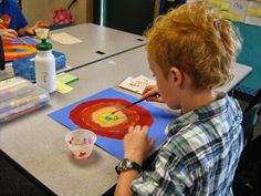Autumn Harvest Moon Silhouettes: Art in the classroom 4th grade