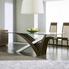 Rossetto USA Interni Dining Table Table Top Finish: Clear Glass