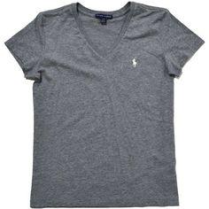 Ralph Lauren Women s Sport V-Neck T-Shirt ( 20) ❤ liked on c935748da88