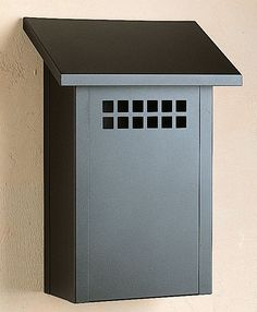 Arroyo Craftsman GMB Craftsman / Mission Mailbox from the Glasgow Collection Satin Black Mailboxes Wall Mailboxes Decorative