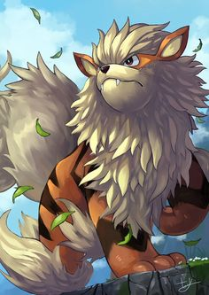 Arcanine is known for its high speed. It is said to be capable of running over miles in a single day and night. The fire that blazes wildly within this Pokémon's body is its source of power. Cool Pokemon Wallpapers, Cute Pokemon Wallpaper, Dog Pokemon, Pokemon Fan Art, Pokemon Images, Pokemon Pictures, Digimon, Pikachu Art, Pokemon Starters