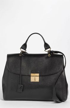 MARC JACOBS '1984' Leather Satchel available at #Nordstrom; Sale colors: Chestnut & Nautical Blue