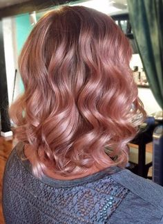 Rose Gold Hair Balayage 2018