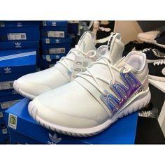 Unisex Adidas Tubular Nova Hologram Iridescent White Trainers | tubular