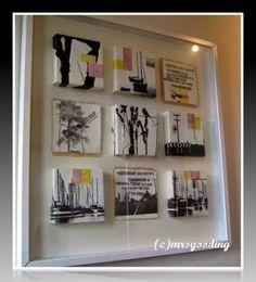 Framing options for small art work