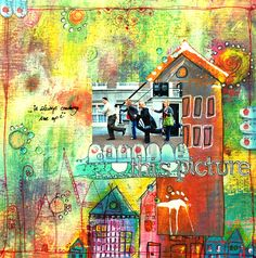 scrapbook page....really like all of the color