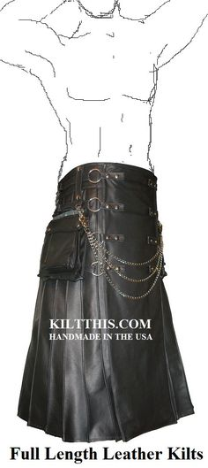 Utility Kilt Full Length Leather Utility Kilt for Men Handmade in the USA Interchangeable Parts on Etsy, $1,500.00