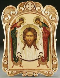 """MANDYLION: Rostro Milagroso de Jesucristo """"pintado no por mano"""" (ajeropoietes)"""