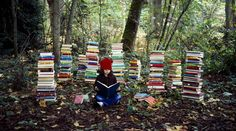 This would be really cool for senior photos or maybe even a kid first going to school? Just a lot of books out in nature