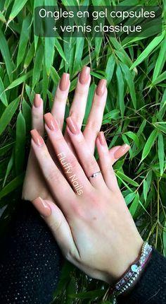 "nude gel nails with bourjois nailpolish ""12 pina chocolada"""