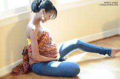 Maternity Wrap  - cute! http://huggabeans.bigcartel.com/product/maternity-wraps-for-mamas-belly