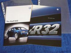 VW Volkswagen Golf Mk4 R32 2002 and 2003 Pair of UK Sales Brochures Prospekt
