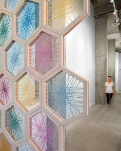 Float House floatation center by OMB, Vancouver – Canada hexagon custom wall design Diy Home Decor, Room Decor, Deco Boheme, Sustainable Design, String Art, Retail Design, Visual Merchandising, Interior Design Living Room, Design Bedroom