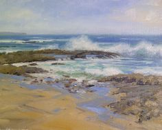 Original Oil Painting Plein air Coastal Scene by AltenFineArt