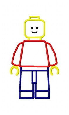 Lego Man Machine Embroidery Applique Designs 1946