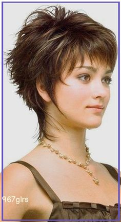 Shaggy Short Hair, Short Haircuts With Bangs, Short Hairstyles For Thick Hair, Short Hair With Layers, Bob Haircuts, Curly Short Hair Cuts For Women, Girl Hairstyles, Fishtail Hairstyles, Funky Short Hair