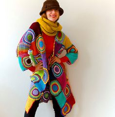 Damen Mantel lange Strickjacke Pullover leichte von subrosa123