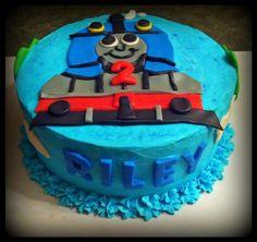 Thomas the train birthday cake by Sugar On Top