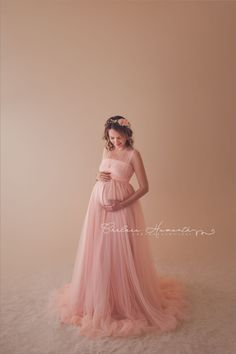Kaitlyn Gown • Mesh Infinity Gown • Maternity Dress • Pregnancy Gown • Bridesmaid Dress • Senior Photos • Photo Shoot • Boho Dress by Sew Trendy